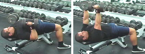 Flat Bench Dumbbell Bench Press