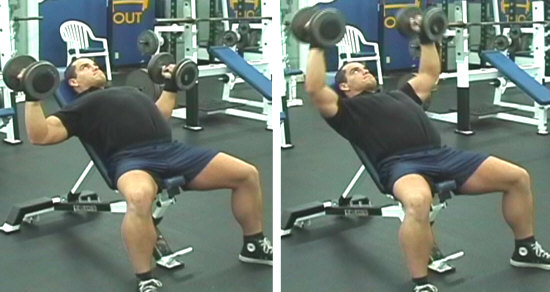 Incline Bench Dumbbell Flyes