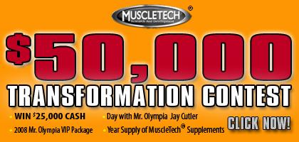 MuscleTech $50,000 Transformation Contest