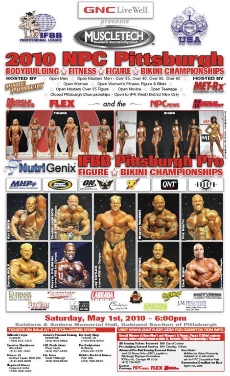 2010 IFBB & NPC Pittsburgh Bodybuilding, Fitness, Figure & Bikini ...