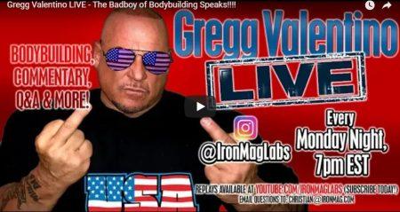 Gregg Valentino LIVE – The Badboy of Bodybuilding Speaks!